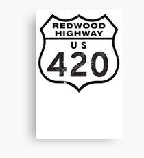 Redwood HIGHway US 420 California Canvas Print