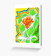 Sun and Flower Greeting Card