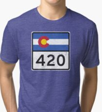Colorado HIGHway 420 Tri-blend T-Shirt