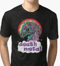 Zombie Unicorn Death Metal Tri-blend T-Shirt