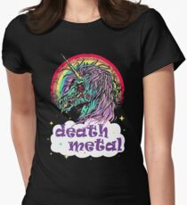 Zombie Unicorn Death Metal Women's Fitted T-Shirt