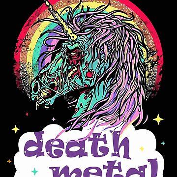 Zombie Unicorn Death Metal by caiicann