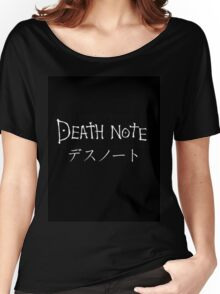 Death Note Journal  Women's Relaxed Fit T-Shirt
