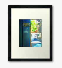 pedestrian Framed Print