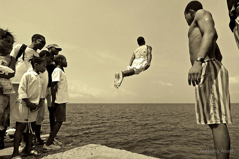 Flying out Sao Tome by Anthony Asael