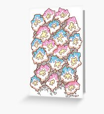 Donut Flowers Greeting Card