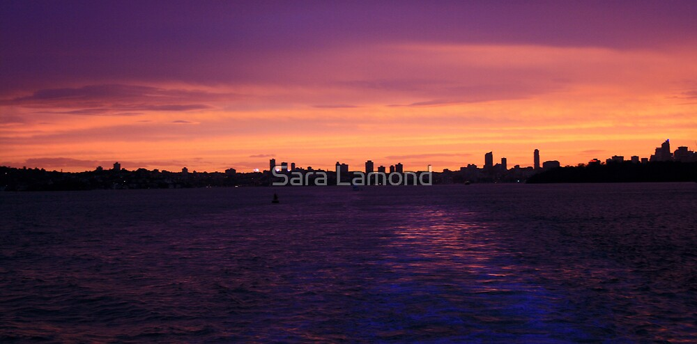 Sunset over Sydney by Sara Lamond