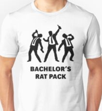 Bachelor's Rat Pack Party Groom Team Drunk Funny T-Shirt  & stickers Unisex T-Shirt