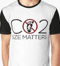 Carbon Footprint - Size Matters Graphic T-Shirt