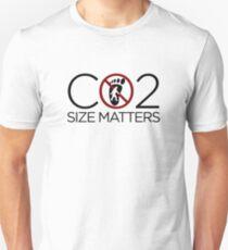 Carbon Footprint - Size Matters Unisex T-Shirt