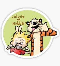 Calvin And Hobbes Funny Sticker