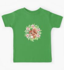 Squirrel and flowers Kids Tee