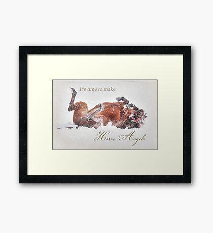 Horse Angels Framed Print