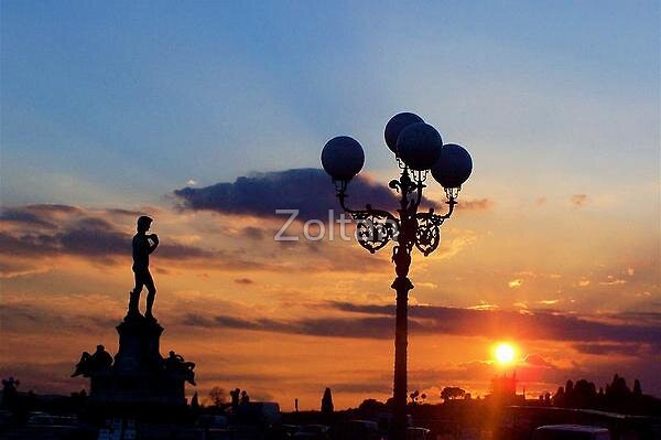 SUNSET IN PIAZZALE DI MICHELANGELO - FLORENCE by Zoltan