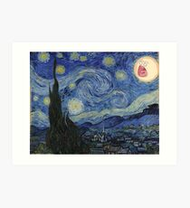 Starry Night rick and morty sun  Art Print