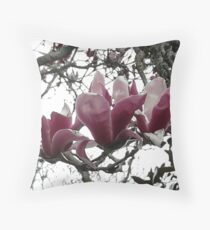 Cambridge Magnolias (NZ) pink Throw Pillow