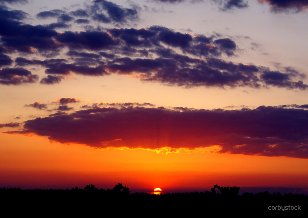 Lymington sunset by corbystock