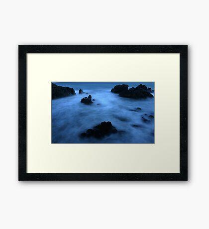 Kennack sands bay in Cornwall  Framed Print