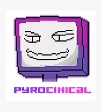 Pyrocinical Youtube, Youtuber, Pixel Art, T-Shirt Phone Case And More! Photographic Print