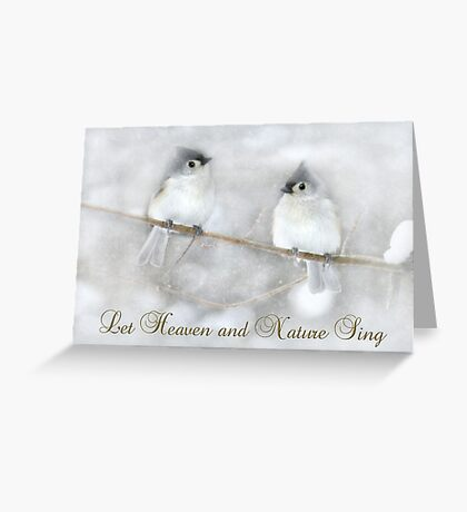 Let Heaven and Nature Sing Greeting Card