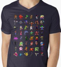 8-Bit Heroes Men's V-Neck T-Shirt