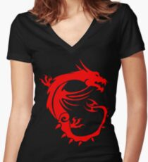 MSI Dragon Women's Fitted V-Neck T-Shirt