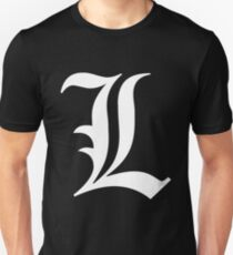 Death Note L White Unisex T-Shirt