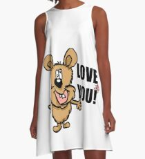Love you! A-Line Dress
