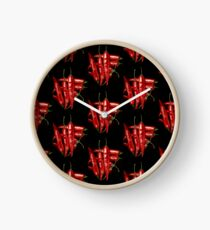 Red Hot Chalkie Peppers Clock