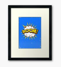 BOOM! limited edition Blue edition Framed Print