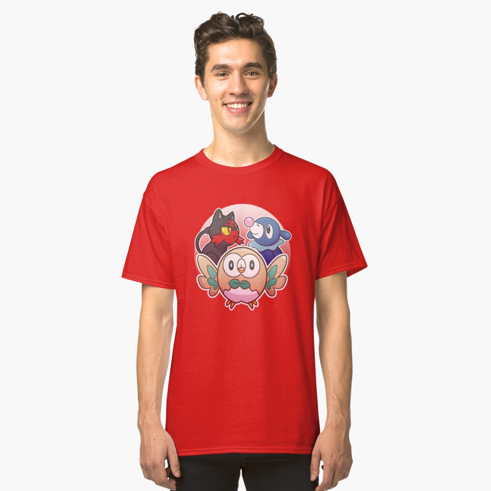 Rowlet, Litten, and Popplio Classic T-Shirt