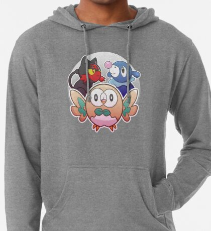 Rowlet, Litten, and Popplio Lightweight Hoodie