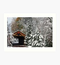 Christmas Bridge Art Print