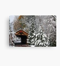 Christmas Bridge Canvas Print