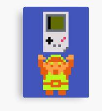 Link + Game Boy Canvas Print