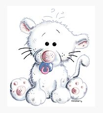 Baby Cat With Pacifier Photographic Print