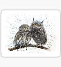 Little owls Sticker