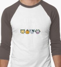 I Love Animals T-Shirt for Vegans and Vegetarians Men's Baseball ¾ T-Shirt