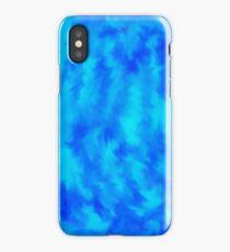 Blue tie dye iPhone Case/Skin