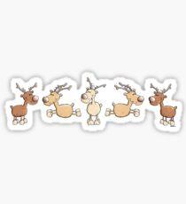 Funny Reindeers Sticker