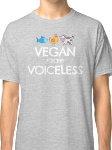 """Vegan for the Voiceless"" T-shirt for Vegans and Vegetarians Classic T-Shirt"