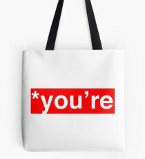 *You're - Red Block Tote Bag