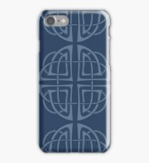 Blue celtic pattern iPhone Case/Skin