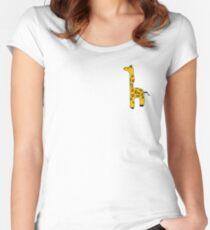 goofy girraffe Women's Fitted Scoop T-Shirt