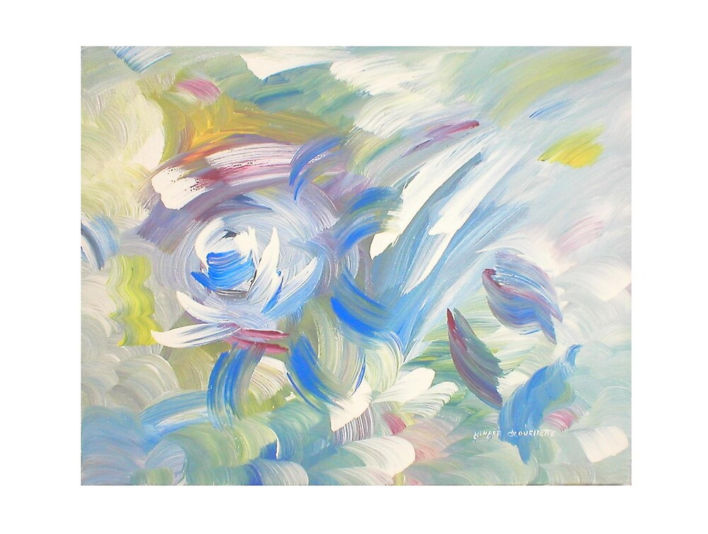 Abstract Blue Rose by Ginger Lovellette