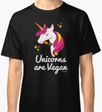 Unicorn TShirt - Unicorns are Vegan (Magenta) Classic T-Shirt