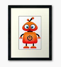 orange robot Framed Print