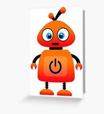 orange robot Greeting Card