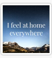 I feel at home everywhere - Affirmation Sticker