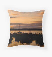 Ballycotton Co Cork at Sunset Throw Pillow